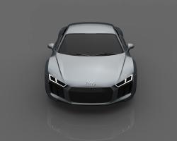 مدل اتومبیل آئودی 2016 در تری دی مکس